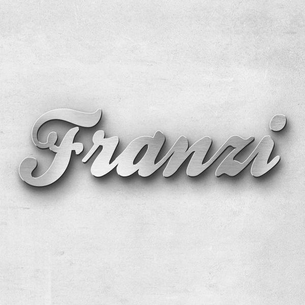 """Schriftzug """"Franzi"""", Breite: 10 cm, Schriftart: Rockradio, Befestigung: Selbstklebend"""