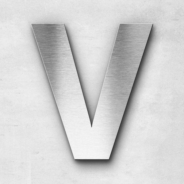 Edelstahlbuchstabe V groß - Serie Sans