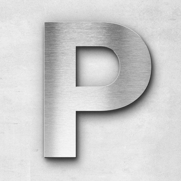 Edelstahlbuchstabe P groß - Serie Sans