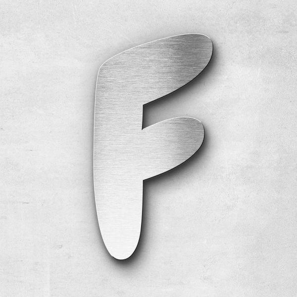 Edelstahlbuchstabe F groß - Serie Darius