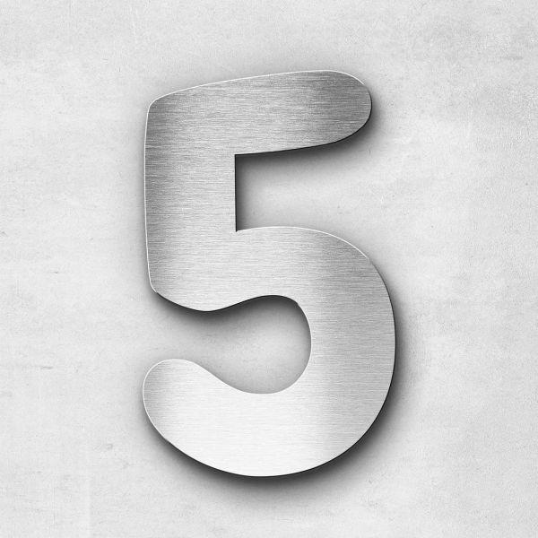 Hausnummer 5 Edelstahl - Serie Darius