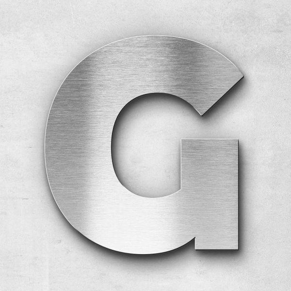 Edelstahlbuchstabe G groß - Serie Kontrast