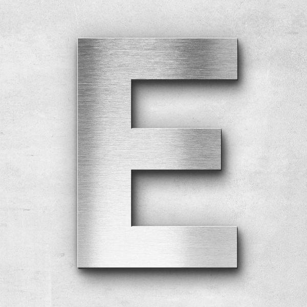 Edelstahlbuchstabe E groß - Serie Sans