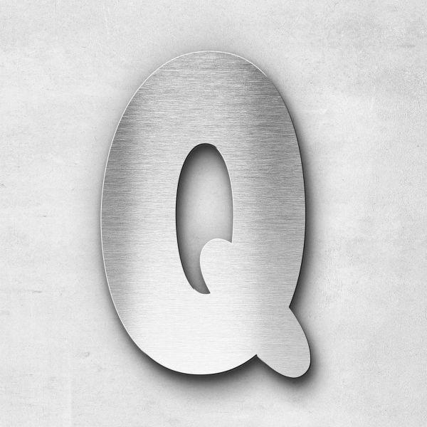 Edelstahlbuchstabe Q groß - Serie Darius