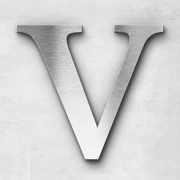 Edelstahlbuchstabe V groß - Serie Serif