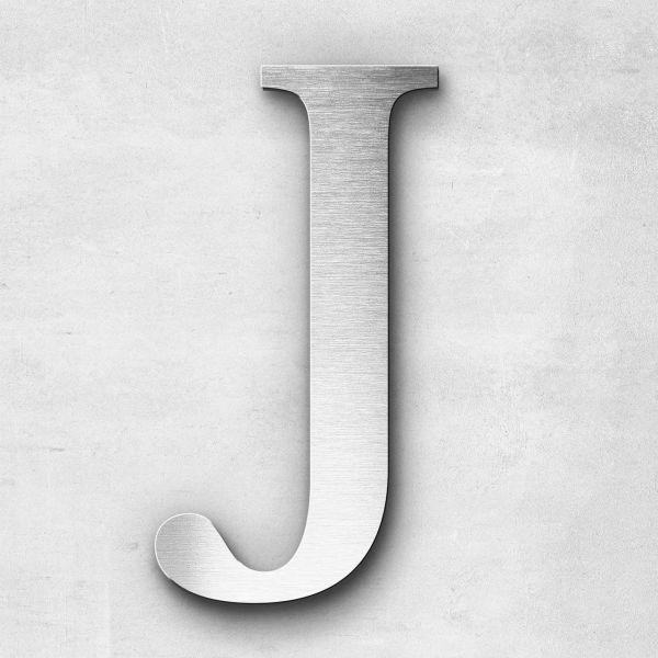 Edelstahlbuchstabe J groß - Serie Serif