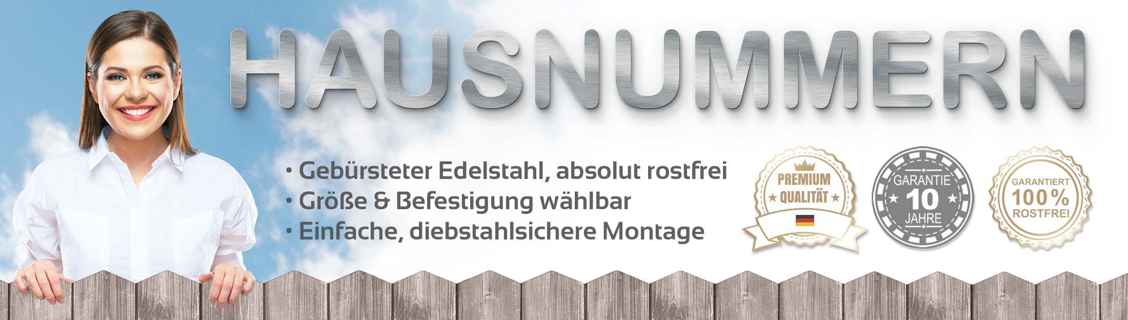 Signostar - Hausnummern aus Edelstahl