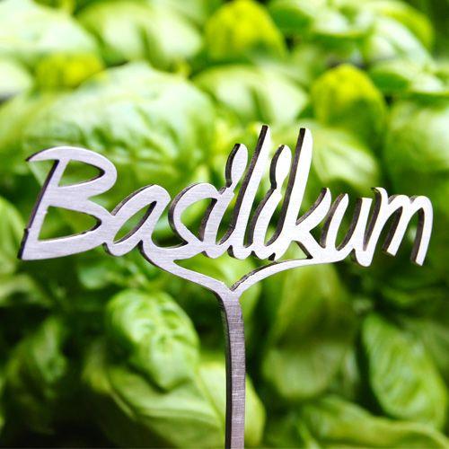 Pflanzenstecker Basilikum - Edelstahl
