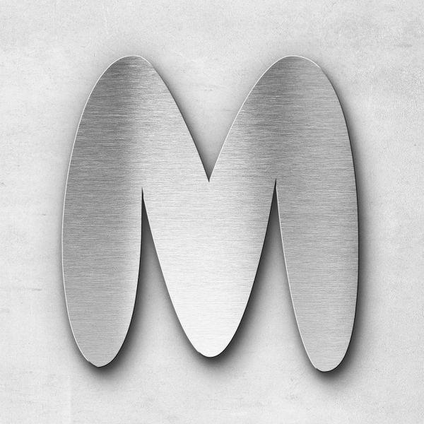Edelstahlbuchstabe M groß - Serie Darius