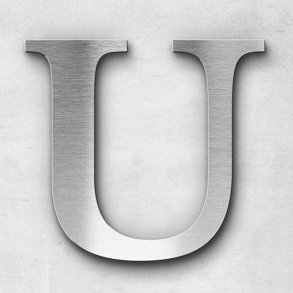 Edelstahlbuchstabe U groß - Serie Serif