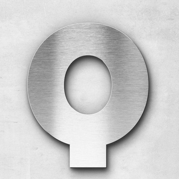 Edelstahlbuchstabe Q groß - Serie Kontrast
