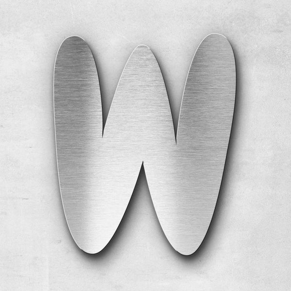 Edelstahlbuchstabe W groß - Serie Darius