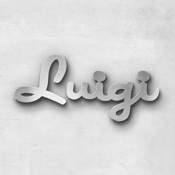 """Schriftzug """"Luigi"""", Breite: 8 cm, Schriftart: Scriptus, Befestigung: Selbstklebend"""
