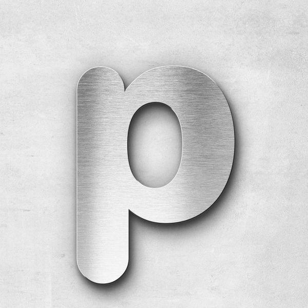 Edelstahlbuchstabe p klein - Serie Classic
