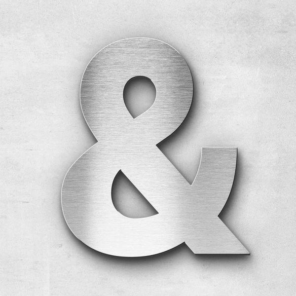 Edelstahlbuchstabe Und-Zeichen Sonderzeichen - Serie Sans