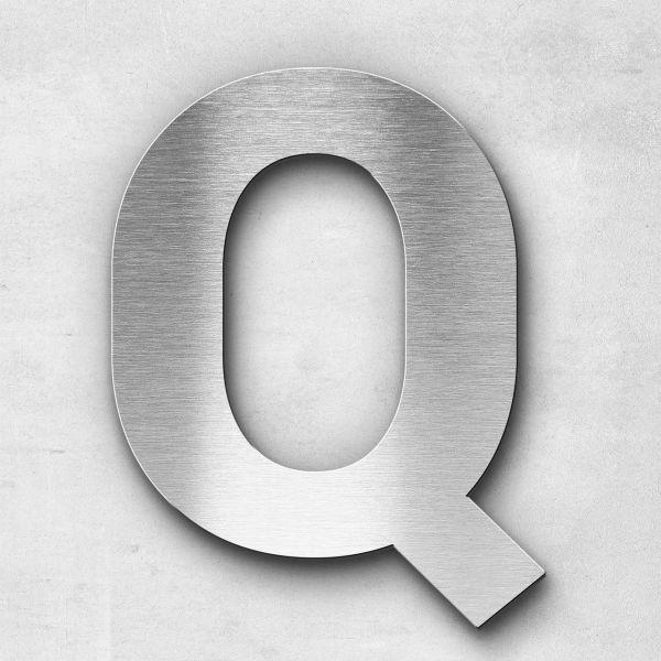 Edelstahlbuchstabe Q groß - Serie Sans