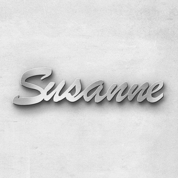 "Schriftzug ""Susanne"", Breite: 14 cm, Schriftart: Lilly, Befestigung: Bolzen"