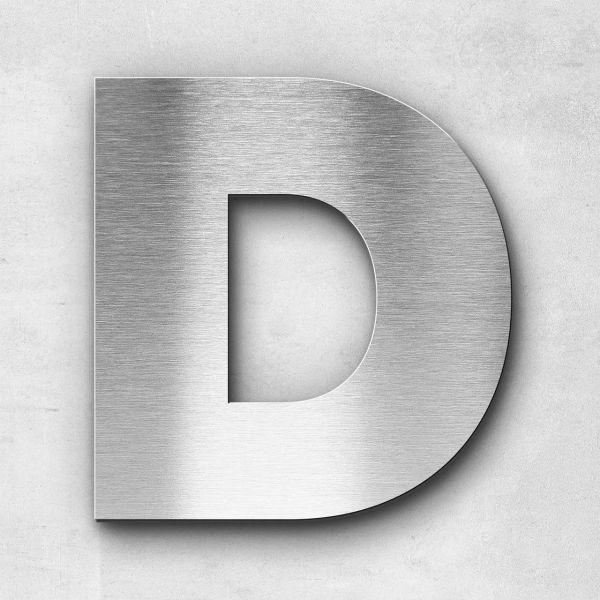 Edelstahlbuchstabe D groß - Serie Kontrast