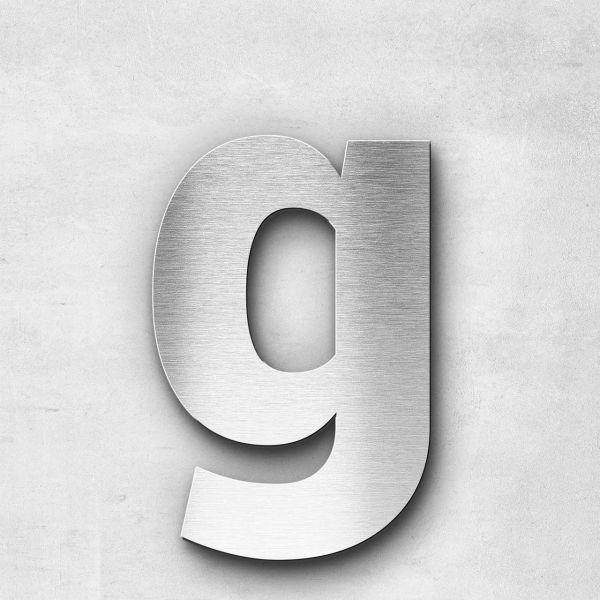 Edelstahlbuchstabe g klein - Serie Sans