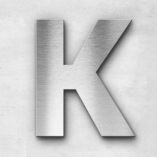 Edelstahlbuchstabe K groß - Serie Sans