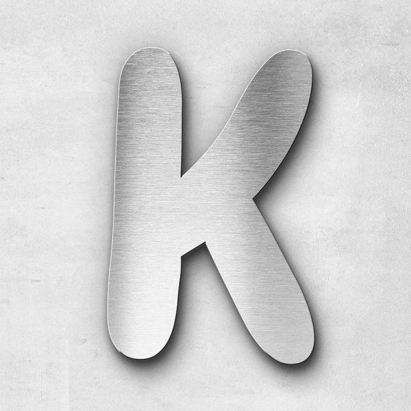Edelstahlbuchstabe K groß - Serie Darius