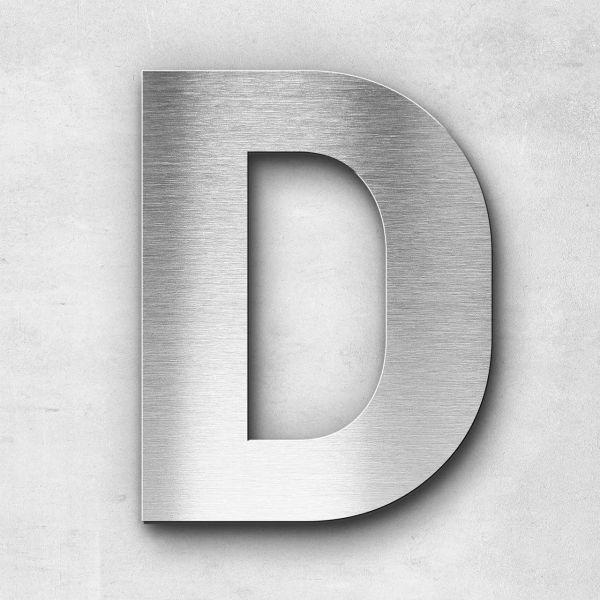 Edelstahlbuchstabe D groß - Serie Sans