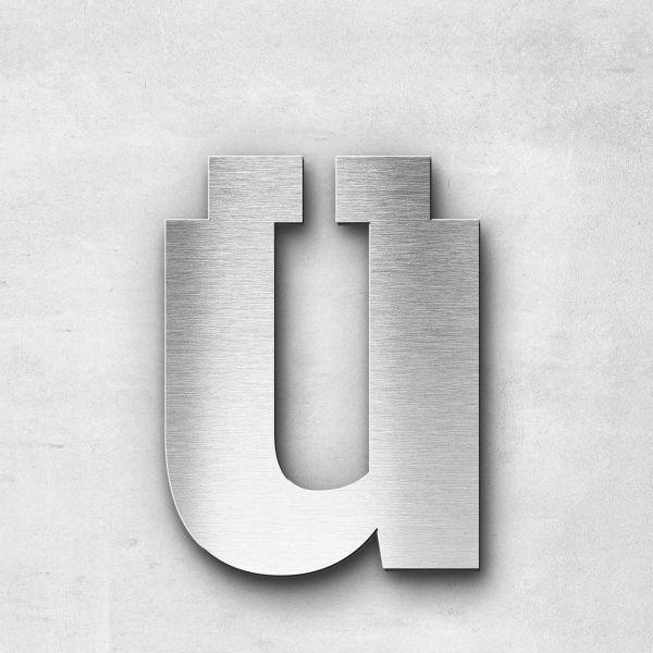 Edelstahlbuchstabe ü klein - Serie Sans