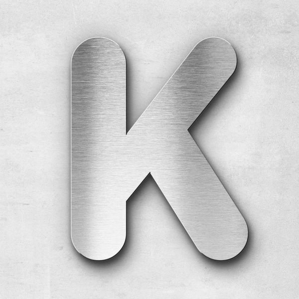 Edelstahlbuchstabe K groß - Serie Classic
