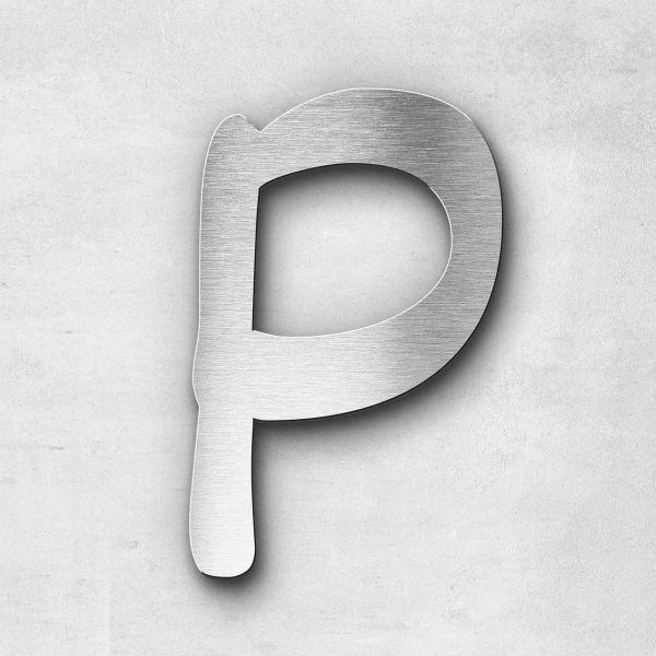 Edelstahlbuchstabe P groß - Serie Malta