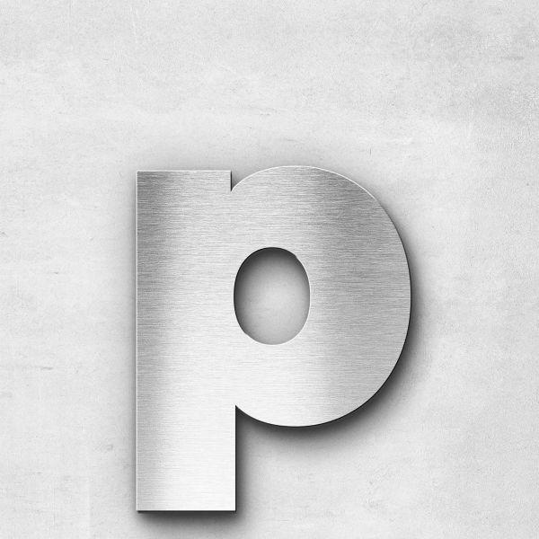 Edelstahlbuchstabe p klein - Serie Kontrast