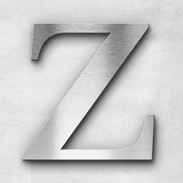 Edelstahlbuchstabe Z groß - Serie Serif