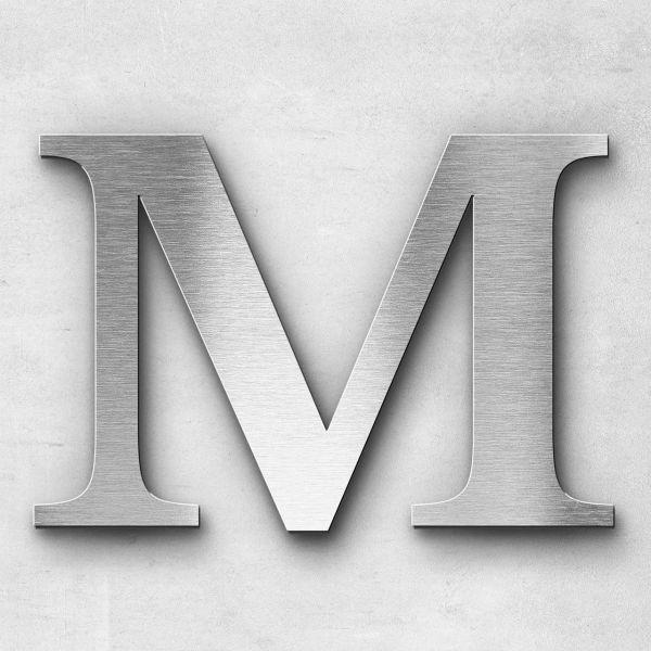 Edelstahlbuchstabe M groß - Serie Serif