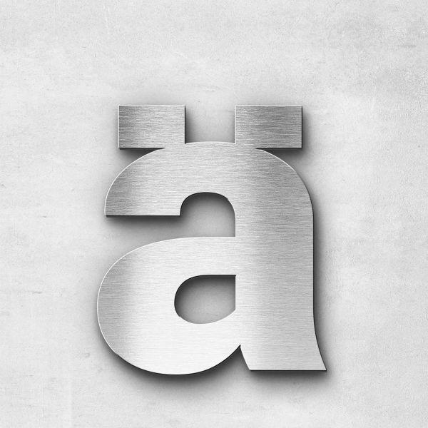 Edelstahlbuchstabe ä klein - Serie Sans