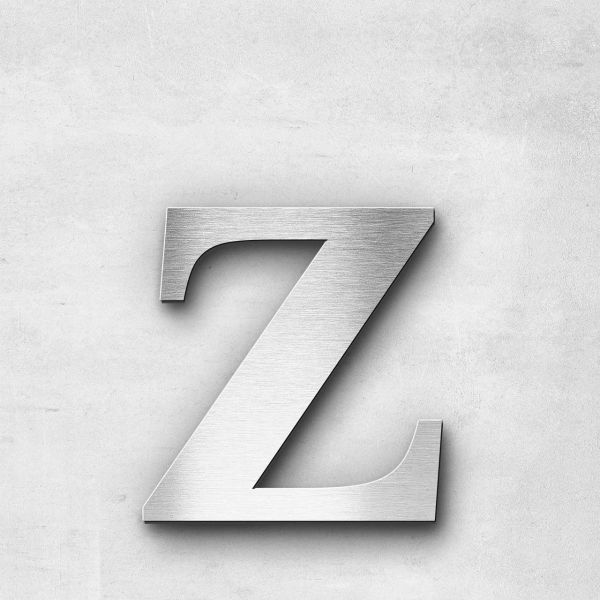 Edelstahlbuchstabe z klein - Serie Serif