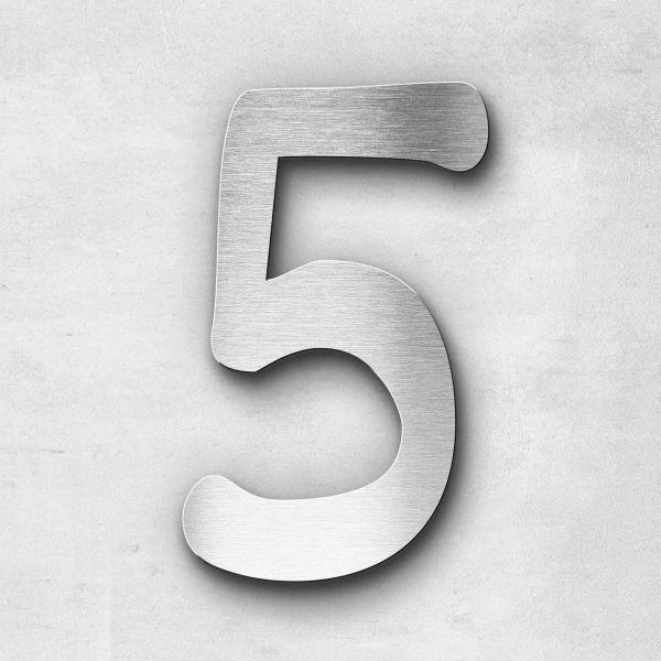 Hausnummer 5 Edelstahl - Serie Malta