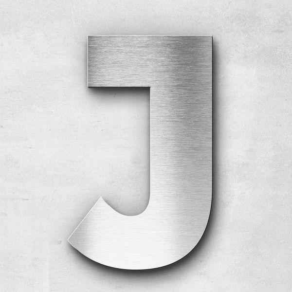 Edelstahlbuchstabe J groß - Serie Kontrast
