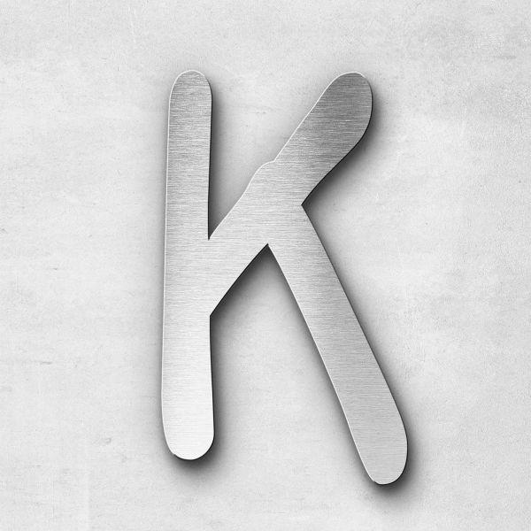 Edelstahlbuchstabe K groß - Serie Malta