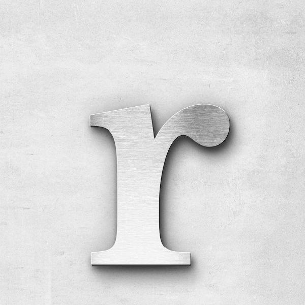 Edelstahlbuchstabe r klein - Serie Serif