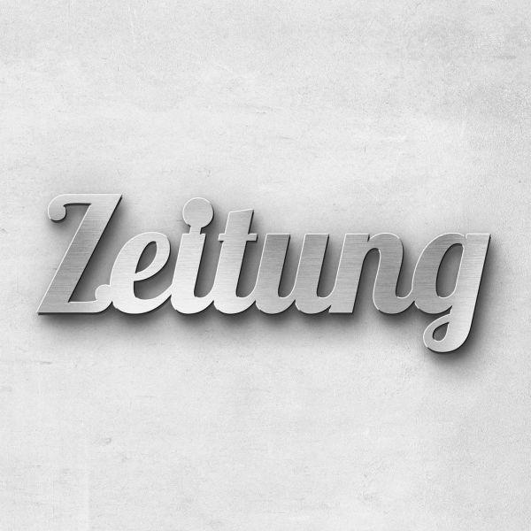 """Schriftzug """"Zeitung"""", Breite: 18 cm, Schriftart: Catdog, Befestigung: Selbstklebend"""