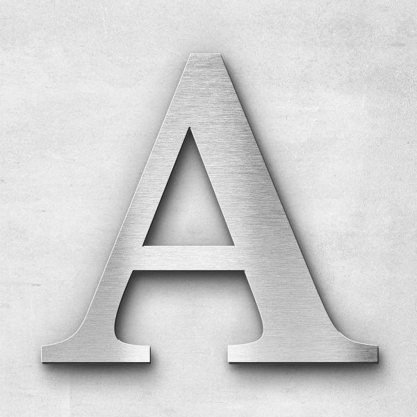 Edelstahlbuchstabe A groß - Serie Serif