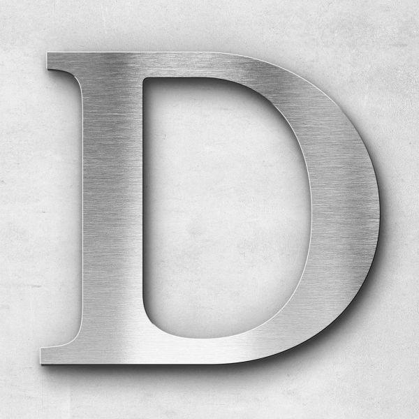 Edelstahlbuchstabe D groß - Serie Serif