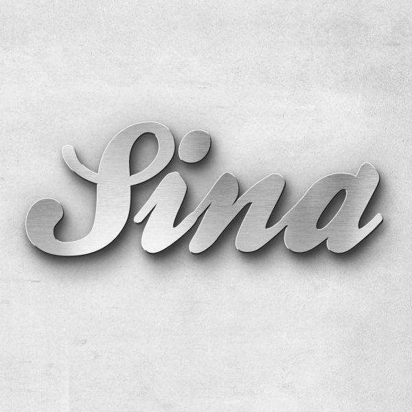 """Schriftzug """"Sina"""", Breite: 40 cm, Schriftart: Lilly, Befestigung: Ohne"""