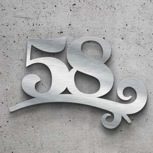 Cool Hausnummern aus gebürstetem Edelstahl in top Qualität QJ61