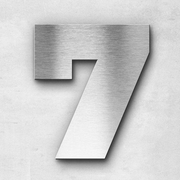 Hausnummer 7 Edelstahl - Serie Kontrast