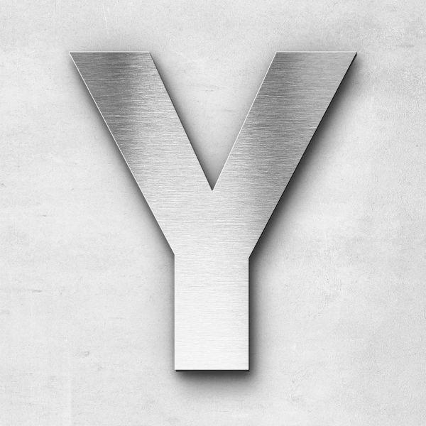Edelstahlbuchstabe Y groß - Serie Sans