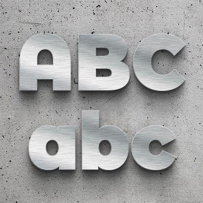 Metallbuchstaben Serie Bauhaus