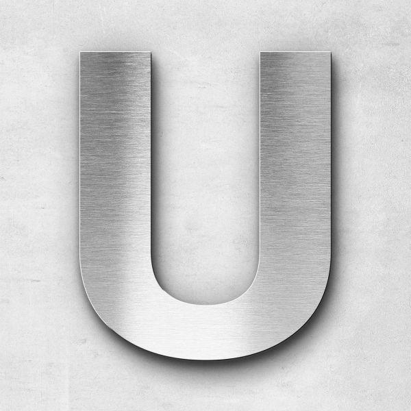 Edelstahlbuchstabe U groß - Serie Sans