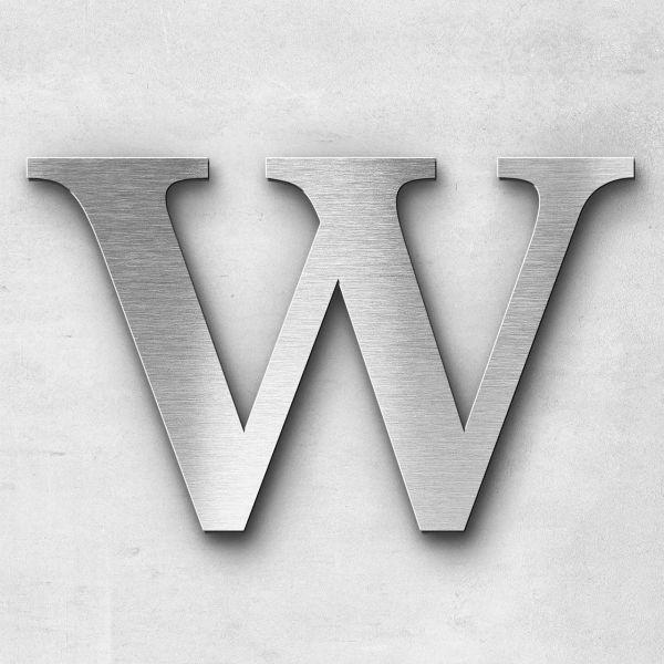 Edelstahlbuchstabe W groß - Serie Serif