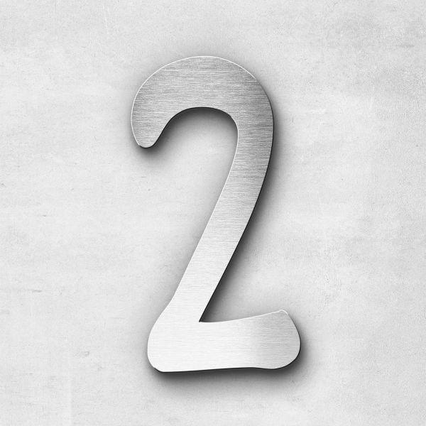 Hausnummer 2 Edelstahl - Serie Malta