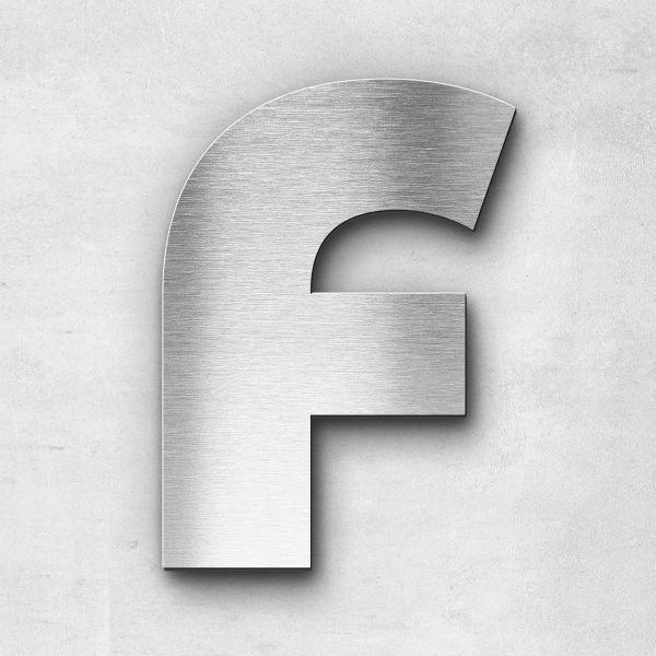 Edelstahlbuchstabe F groß - Serie Kontrast